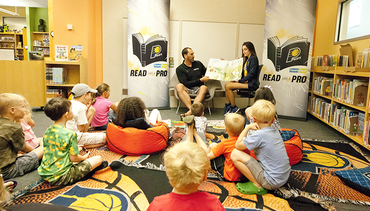 """Pacers Celebrate """"Read Across America Day"""""""