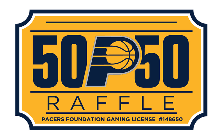 pacers foundation to offer 50 50 raffle indiana pacers
