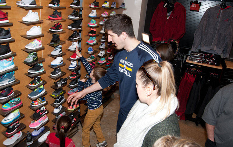 Damjan Rudez at the Shop with the Pacers event on Sunday