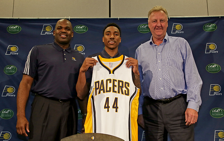 Jeff Teague, Nate McMillan, Larry Bird