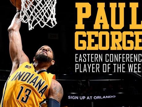 Paul George Named Eastern Conference Player of the Week (April 3-9)