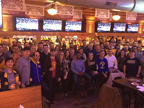 Pacers Staff and Fan Zones Gather to Watch Pacers Play Overseas