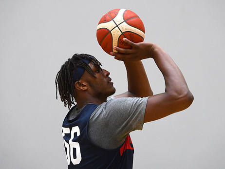 Myles Turner at USA Basketball Training in Australia