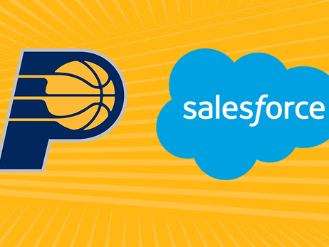 Pacers and Salesforce logos