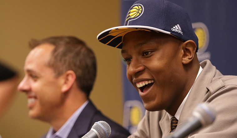 Myles Turner Arrives in Indiana