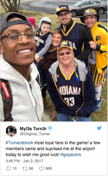 Myles Turner tweet