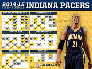 David West 2014-15 Schedule Wallpaper