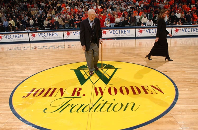 John Woodens Life Of Basketball Indiana Pacers