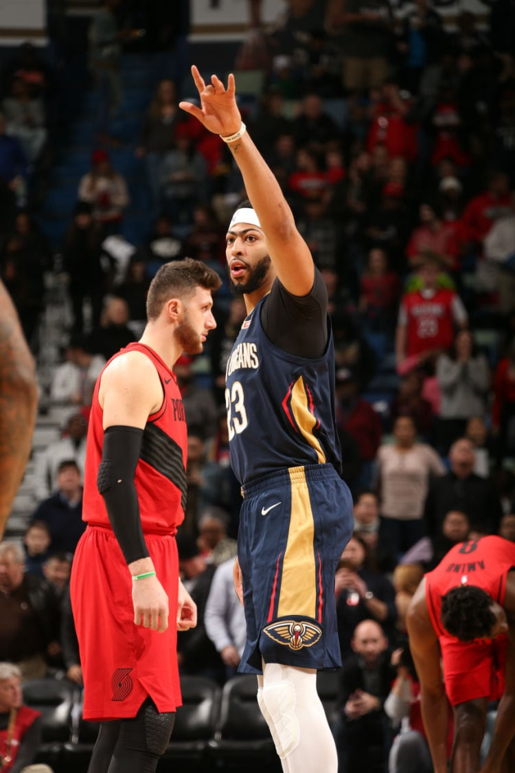 The Pelicans Take On The Portland Trail Blazers In The Smoothie King Center On January