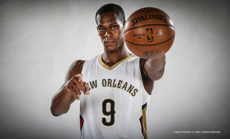 5845df100 Take a look at Rajon Rondo in the New Orleans Pelicans uniform and behind  the scenes