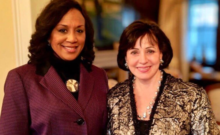 Gayle Benson and Nancy Parker