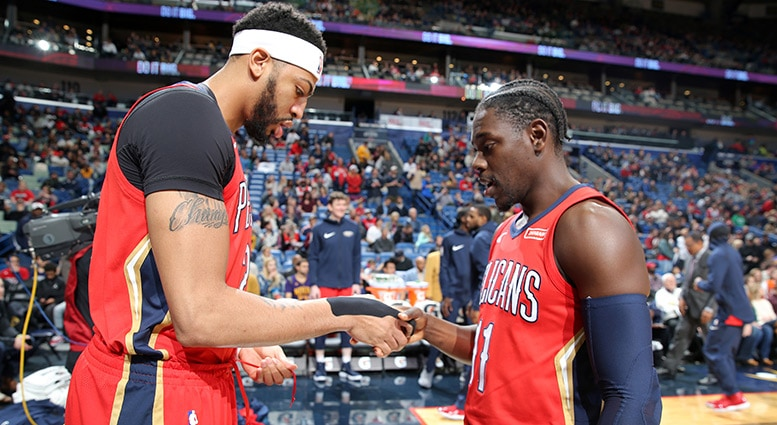 All-Defense selections Anthony Davis Jrue Holiday spearheaded dramatic in-season improvement by New Orleans