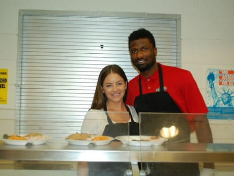 Solomon Hill's Thanksgiving dinner for Salvation Army Center of Hope Residents