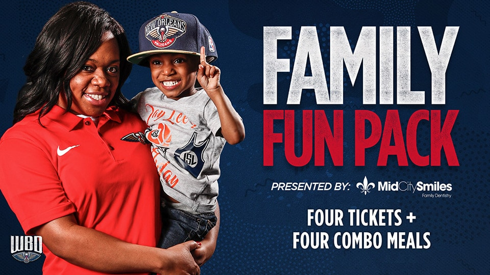 New Orleans Pelicans Promotions - Family Fun Pack