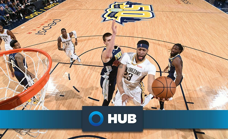 9ff24cb300cc Pelicans shootaround update presented by HUB International  Anthony Davis  out for second game due to