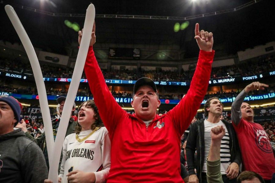 Pelicans Vs Spurs Fan Photos 2019 20 Game 45 New