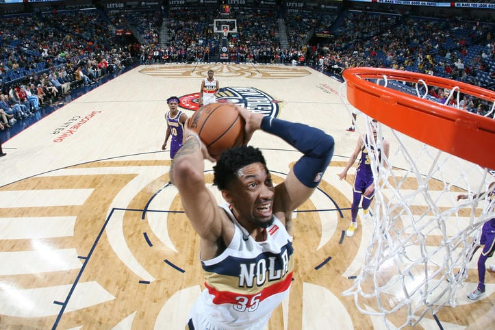 Top 10 Christian Wood Photos from the Pelicans 2018-19 Season
