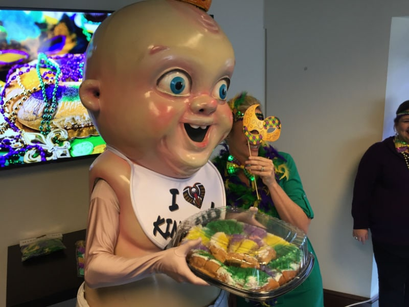 King Cake Baby Suprises Fans With Office Party New Orleans