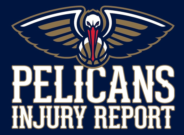 Pelicans injury report graphic