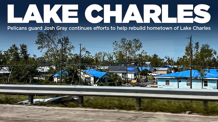 Pelicans guard Josh Gray continues efforts to help rebuild hometown of Lake Charles