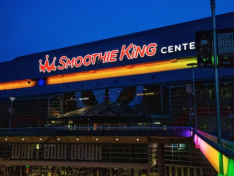 Smoothie King Center and Mercedes-Benz Superdome shined colors in honor of Pride Month