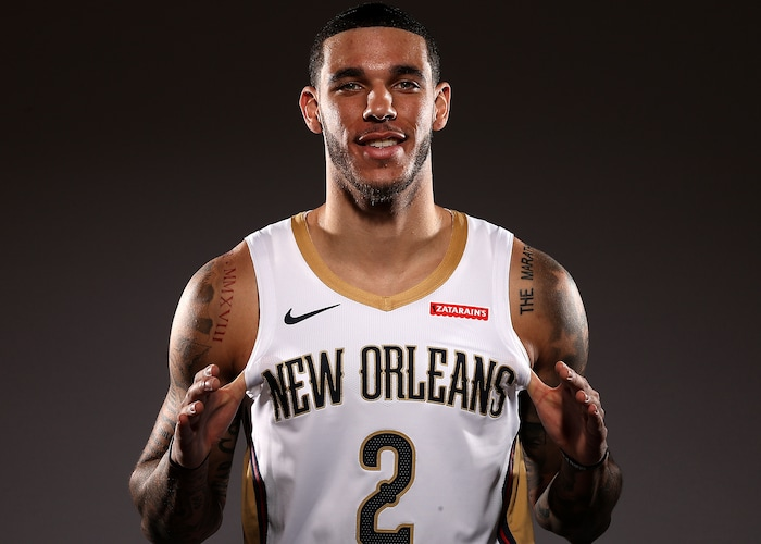 Off The Court Pelicans Guard Lonzo Ball New Orleans Pelicans