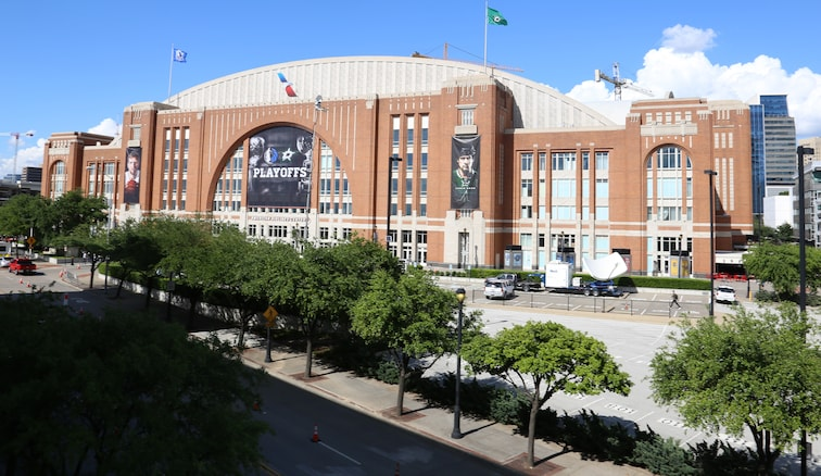 Dallas' American Airlines Center prior to a home playoff game