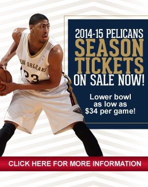 Pelicans Season Tickets on Sale Now