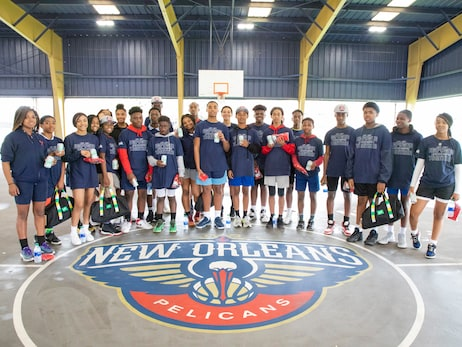 Pelicans and Sprite partnered to host skills challenge for students at Kipp Central City
