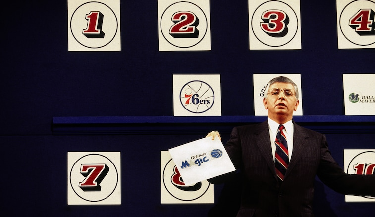 David Stern opens the envelope rewarding the Orlando Magic with the No. 1 pick in 1993