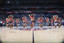 The Pelicans Dance Team entertained fans at the Pelicans-Pistons game Wednesday, March 4.