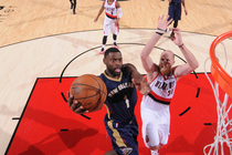Tyreke Evans glides in for a layup at Portland last month