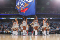 Pelicans Dance Team vs Nuggets