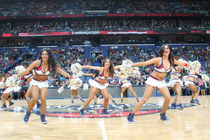 Pelicans Dance Team vs Celtics
