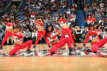 Pelicans Dance Team Action Shots