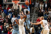 Mike Conley drops in a game-winning floater at New Orleans last season