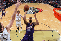 Markieff Morris takes a mid-range shot during a game at New Orleans last season
