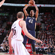 The Pelicans played at the Portland Trail Blazers on Monday, Nov. 17.