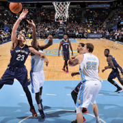 The Pelicans played at the Denver Nuggets on Friday, Nov. 21.
