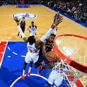 The New Orleans Pelicans played at the Philadelphia 76ers on Friday, Jan. 16.