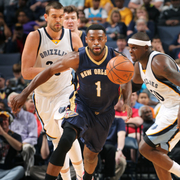 The New Orleans Pelicans played at the Memphis Grizzlies on Wednesday, April 8.