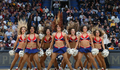 The Pelicans Dance Team entertained fans at the Pelicans-Lakers game on Wednesday, Jan. 21.