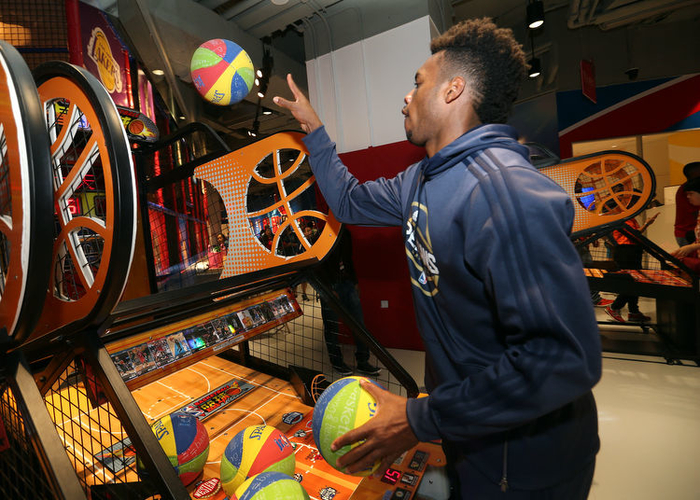 buddy hield visits nba play zone new orleans pelicans