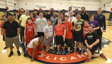 Pels join Special Olympics practice