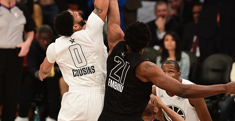ccf3331b250c Anthony Davis wears No. 0 to start All-Star Game in tribute to Pelicans  teammate DeMarcus Cousins