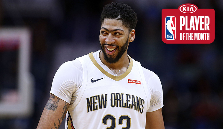 Anthony Davis Named Western Conference Player Of The Month