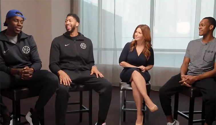 Rachel Nichols candid interview with Pelicans trio | New ...