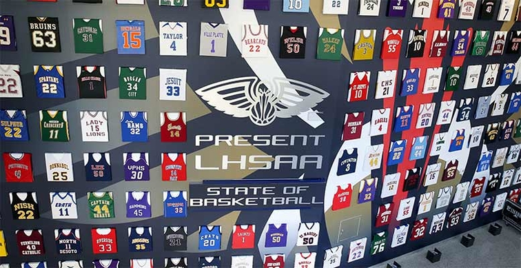 Louisiana High School Jersey Display