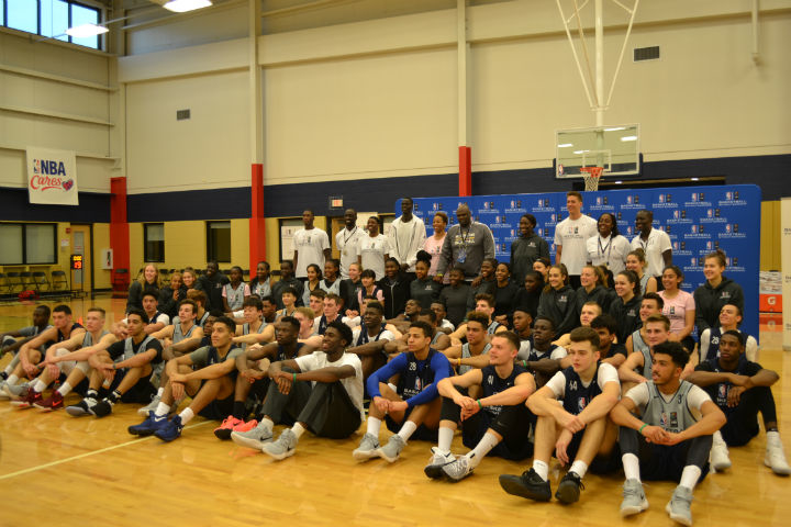 Cheick Diallo and Fred Vinson Coach Basketball Without Borders Global Camp