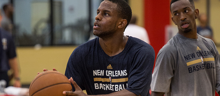 Darius Miller and Russ Smith participate in voluntary workouts